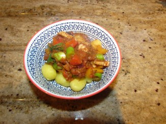 Aubergine Stew Gnocchi
