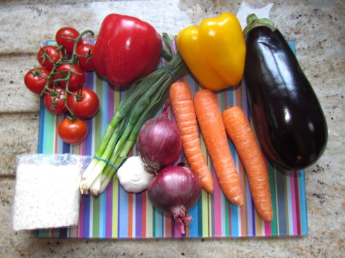 Aubergine Stew Ingredients