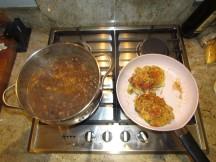 Black Bean Chili Cooking