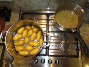 Lentil New Potato Salad Cooking Potatoes and Lentils