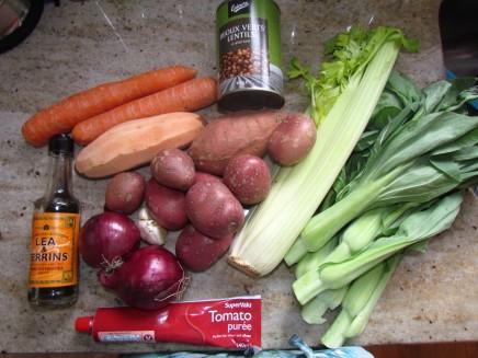 Lentil Shepherds Pie Ingredients