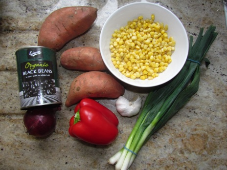 Sweet Potato Jacket Ingredients