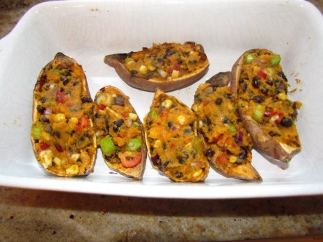 Sweet Potato Jackets Baked