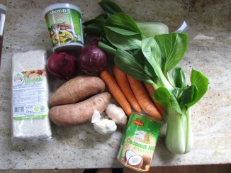 Veg Green Curry Ingredients