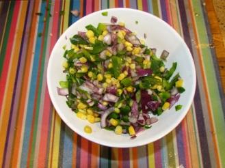 Veggie Fritters Chopped Veg