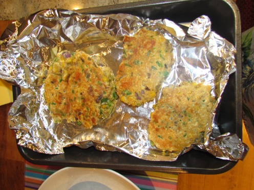 Veggie Fritters Cooked