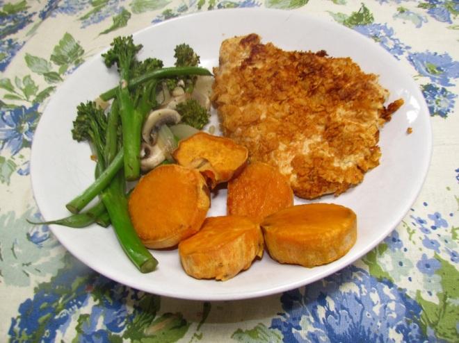 Crunchy Chicken on plate