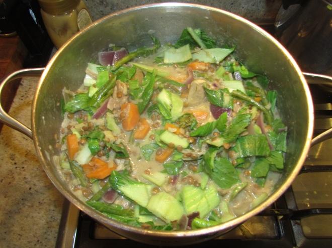 Lentil Curry in Pot