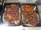 Mex Lasagne beans on top