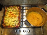Mex Lasagne cooked