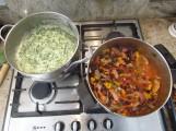 Mex Lasagne in pots