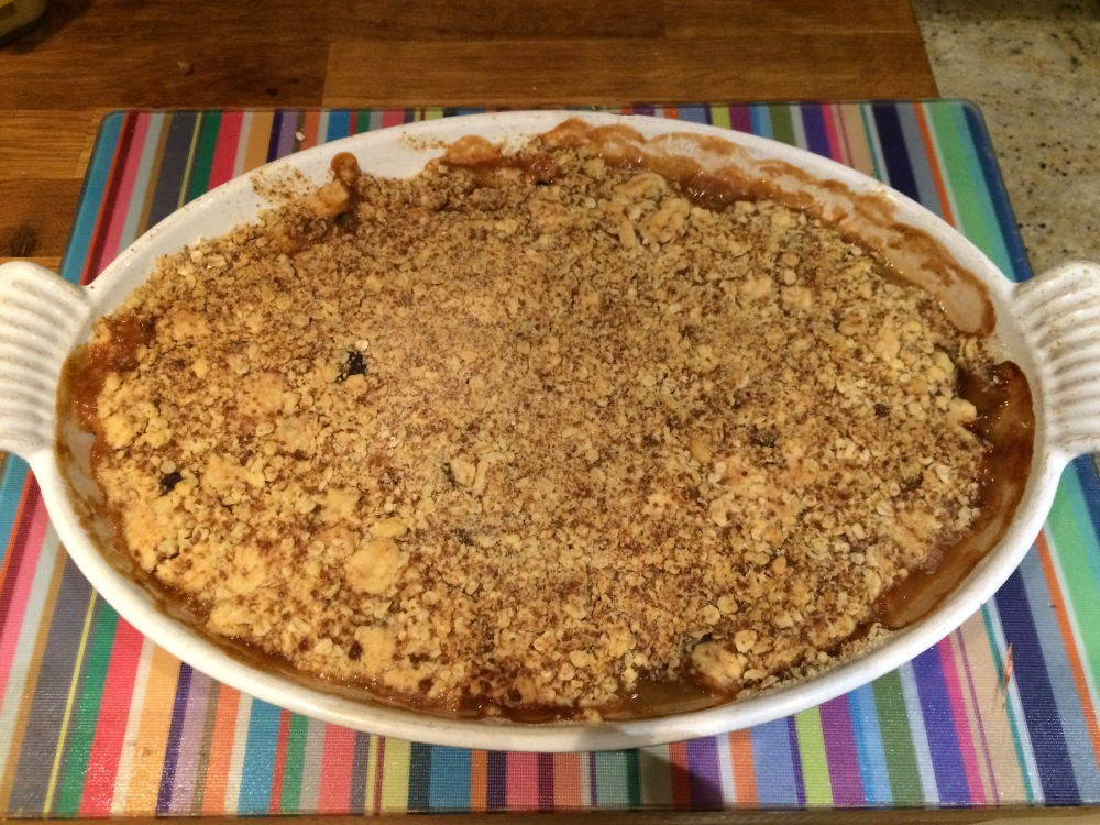 Rhubarb Crumble Cooked