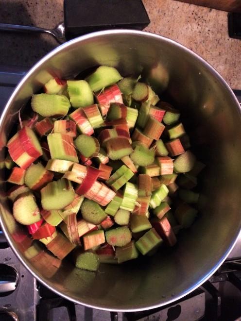 Rhubarb Raw Chopped