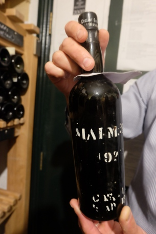 The most expensive bottle at Ballymaloe House, although the sommelier couldn't tell us the price